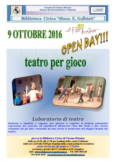 OPEN DAY – Teatro per gioco