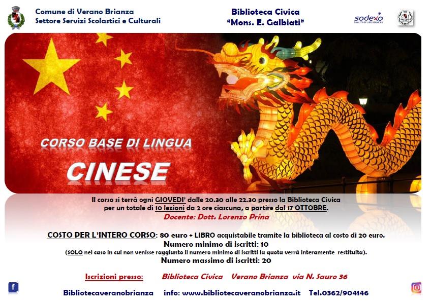 CORSO BASE DI LINGUA CINESE