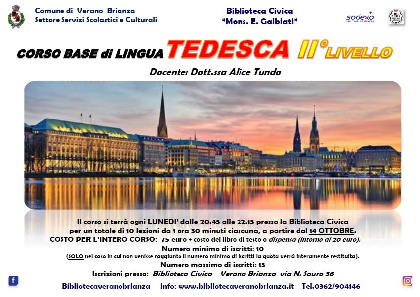 CORSO BASE DI LINGUA TEDESCA II° LIVELLO