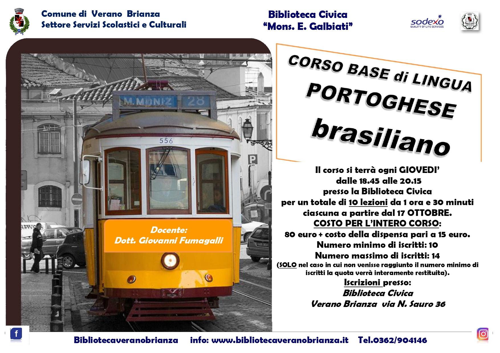 CORSO BASE DI LINGUA PORTOGHESE BRASILIANO