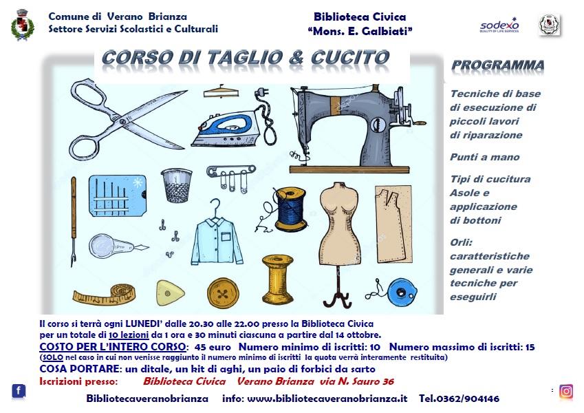 CORSO BASE DI TAGLIO & CUCITO