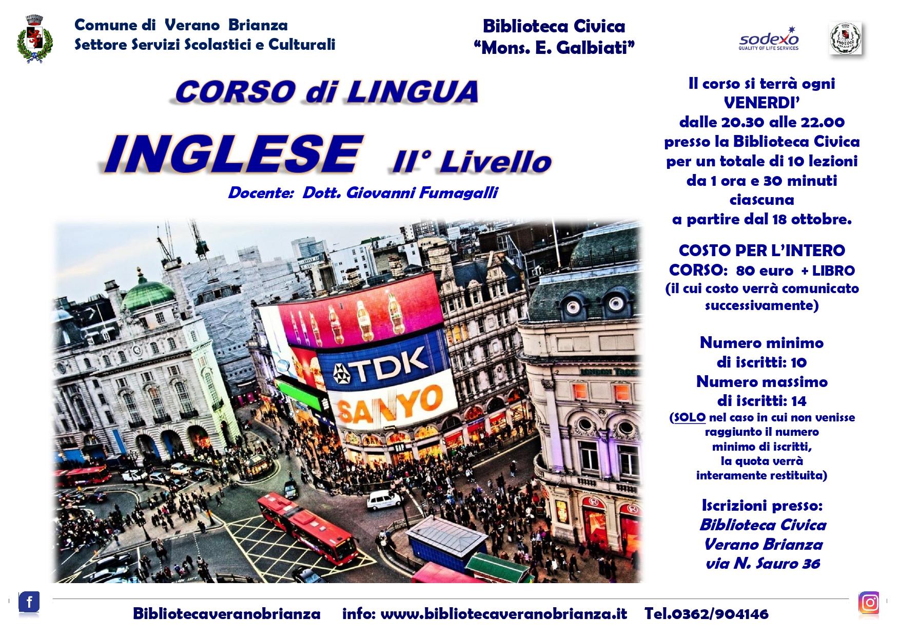 CORSO DI LINGUA INGLESE II° LIVELLO
