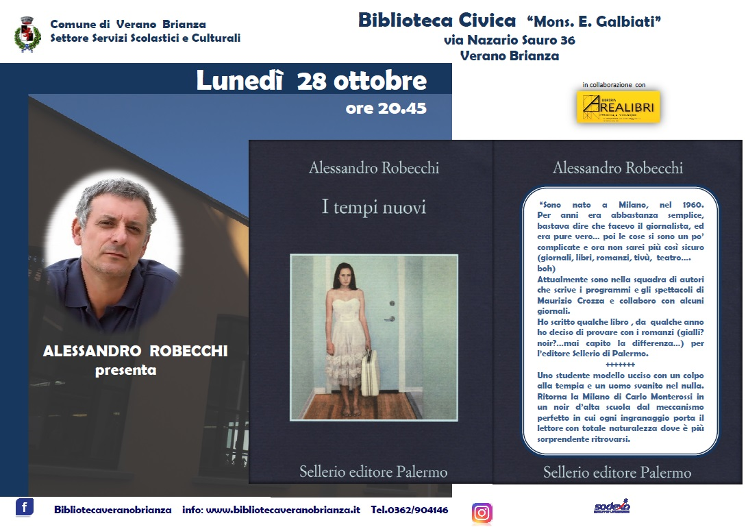 INCONTRO CON L'AUTORE: ALESSANDRO ROBECCHI