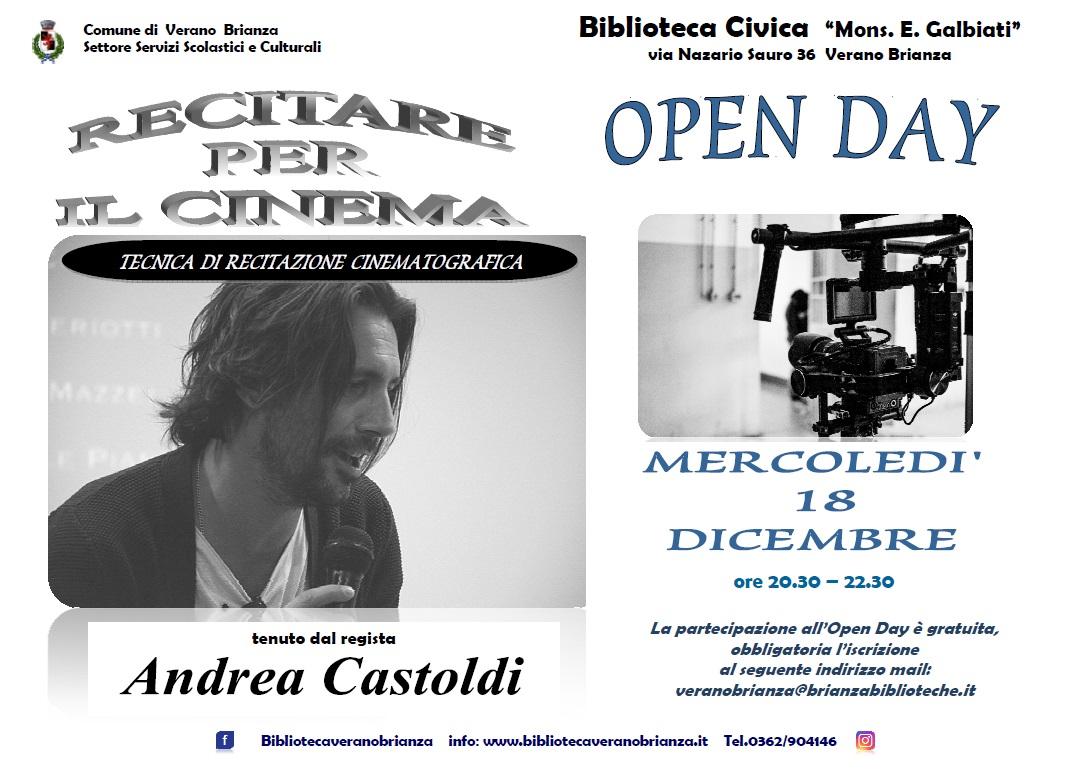 """OPEN DAY """"RECITARE PER IL CINEMA"""""""