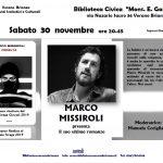 INCONTRO CON L'AUTORE: MARCO MISSIROLI