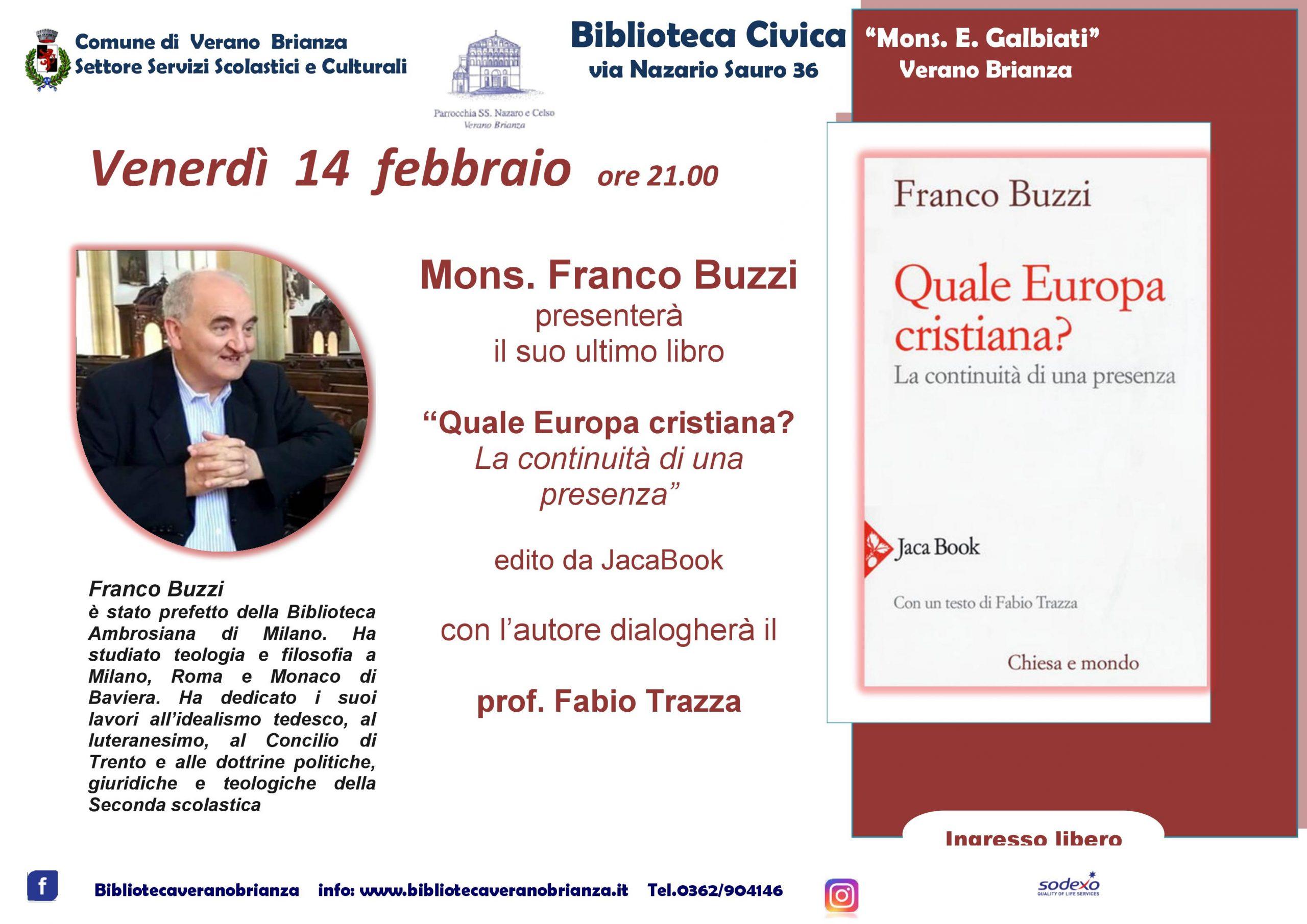 PRESENTAZIONE LIBRO MONS. FRANCO BUZZI