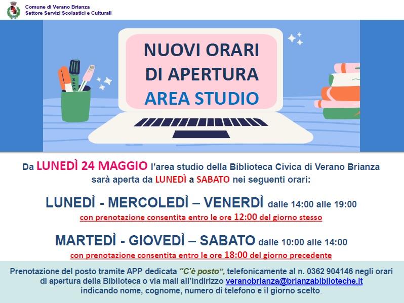 AREA STUDIO: MODALITÀ D'ACCESSO