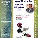 INCONTRI CON L'AUTORE: RAFFELE MANTEGAZZA